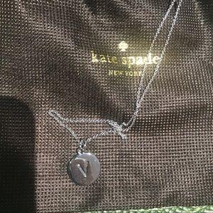 "Kate Spade initial ""V"" necklace"